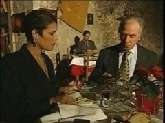Elegant Italian Aged Cheating Husband On Restaurant