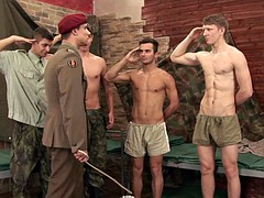 5 military miser in a group orgy - part 1