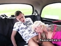 Female fake taxi driver pierced cunt banged