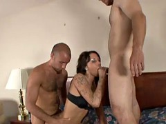 tight brunette bitch gets fucked big time