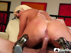Blonde loves to get her tight pussy rammed