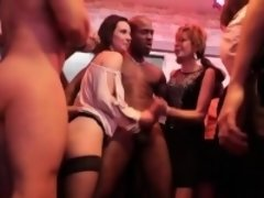 Club girls go wild during a party