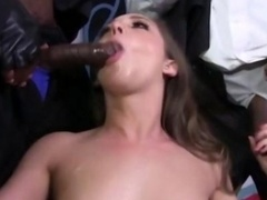 Black penis gang bang giving head slut