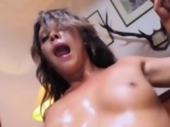 Rough threesome banging session with Hannah Shaw