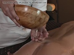 massaged beauty oiled up and doggystyled