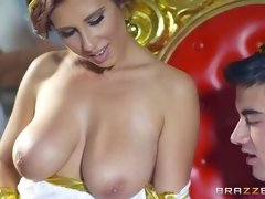 ayda swinger gets her big juicy tits sucked by caesar