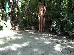 Naked Girl Falling Facefirst in Mud 2