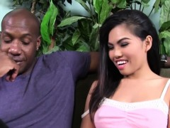 Petite asian Cindy Starfall meets Mandingo's BBC