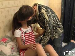 Tasty teen seduced in public and brought home for more