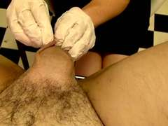 Electro torment, ball sewing, cock and ball torture, going knuckle deep, dual going knuckle deep