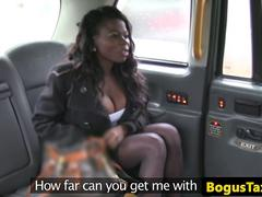 Ebony taxi amateur assfucked and fingered