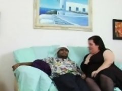 Playful fat beauty seduces mate to bang her very well