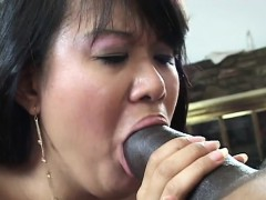 Black dude has a hot Asian chick to ravage