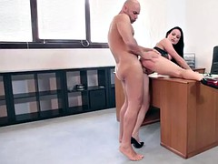italian business woman hiring a man because of big dick