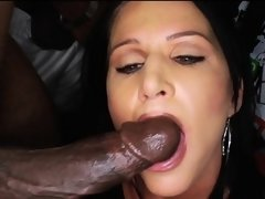 Mom fucked by 3 black movers