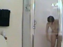 shower shaving my mom on hidden camera