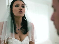Filthy bride Bella Rolland gets banged on the wedding