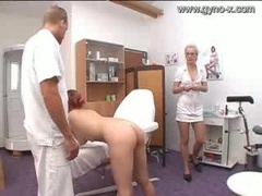 Gyno Exam Of Milky Chick By Docto