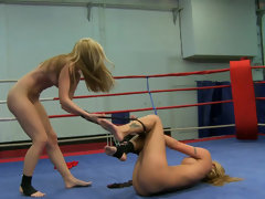 Cindy Hope wrestles Sophie Moone into submission