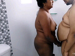 Desi Indian pounding in shower