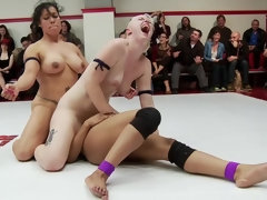 Bad Ass Wrestlers trap Noobes on the mat and finger fuck the fuck out of them