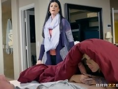 MILF mom India Summer catches young couple in her bedroom