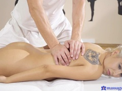 Erotic massage for shy blonde MILF