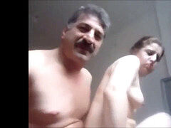 Arab or turkish guy porked adorable chick