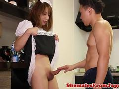 Asian trans maid gets doggystyle screwed