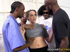 Chanel Preston Gets plumbed By A squad Of black Men