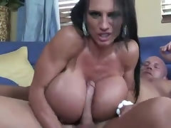 A sturdy mom with massive titties goes chopper-riding