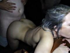 Wild cock gagging messy big boob sperm slut gangbang