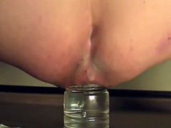 fucked and gape with a plastic bottle-08-2014 August