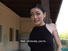 Japanese beauty fucks for cash