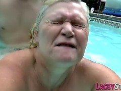 Grannie banged in shower